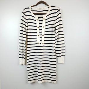 Reiss Wool Cashmere Angora Sweater Dress Size M